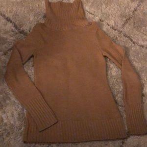 Banana Republic Tan Wool Turtleneck Sweater